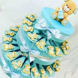 Torta bomboniere orsetto orsacchiotto magnete battesimo nascita giallo assortito