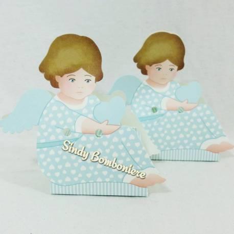 Idea bomboniera segnaposto nascita battesimo confezionato 1PEZZO fai da te 2PEZZI bambino seduto