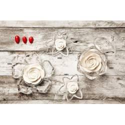 Bomboniere Claraluna Ninfea in ristallo con fiore in gesso