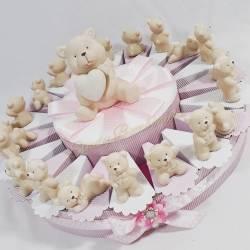 Bomboniere in porcellana lucida per femminuccia orsetta Sugar