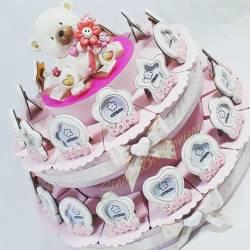 Torta porta confetti cornice portafoto per bomboniere battesimo femminuccia