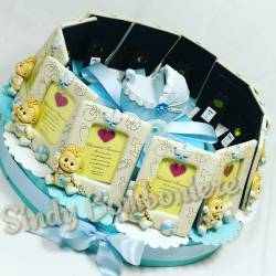 Bomboniere per battesimo nascita compleanno bambino portafoto torta bebè carrozzina salvadanaio