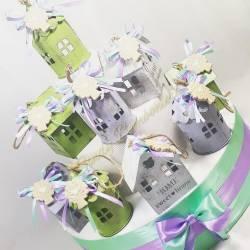 Lanterna a forma di lume con farfalla in ceramica calamita completa di confezione candele Yankee Candle