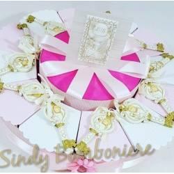 BOMBONIERE torta comunione chiave bimba sacramento sacro SPEDIZIONE INCLUSA porta confetti