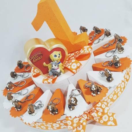 Bomboniera per 1° compleanno offerta animaletti portachiavi bimbo
