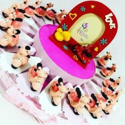 TORTA BOMBONIERE VESPA da appoggio smile rosa battesimo nascita compleanno bambina