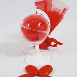 BOMBONIERA LAUREA MAPPAMONDO pensierino con veletto confetti