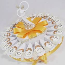 Idea torta bomboniera per 50esimo 50 anno di matrimonio nozze anniversario lucchetto sposi