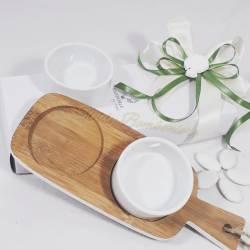 Idea bomboniera matrimonio bomboniere utili antipastiera tagliere per olive stuzzichini sposi