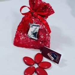 Bomboniera sacchetto portaconfetti per laurea targhetta laurea con nappina