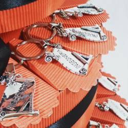 TORTA BOMBONIERA per laurea porta confetti pergamena portachiavi Ingegneria spedizione inclusa