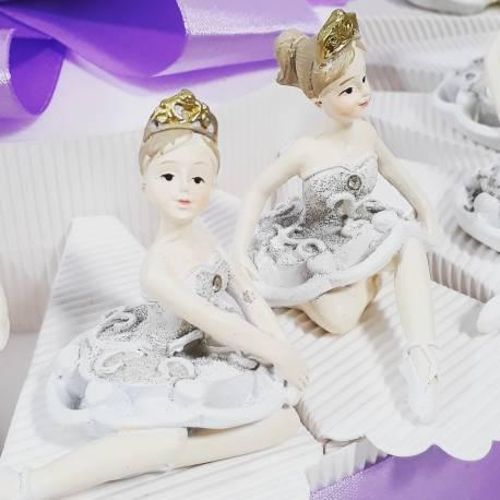 Torta bomboniera comunione battesimo con ballerine da appoggio