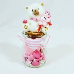 VASETTI per CONFETTI NASCITA BIMBA E BATTESIMO PREZZI ECONOMICI con confettini, marshmallow e zuccherini