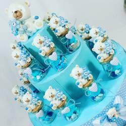 VASETTI per CONFETTI NASCITA BIMBO E BATTESIMO PREZZI ECONOMICI con confettini, marshmallow e zuccherini