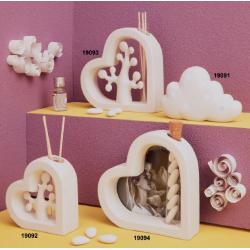 Bomboniere Claraluna nuvoletta led, profumatore per ambiente con essenza portafoto e a forma  cuore e albero dellla vita.