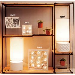 Bomboniere Claraluna lampada con base lavorata quadretto led, portafoto idea regalo matrimonio 2019