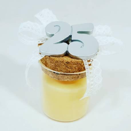 bomboniere anniversario 25° candele per venticinquesimo con cera yankee candle idee originali