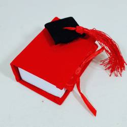 SCATOLINE laurea portaconfetti rossi con tocco nero e nappa rossa a prezzi da ingrosso c1894