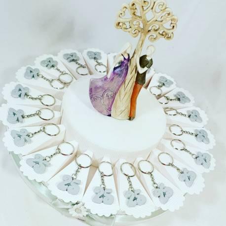 Anniversario Matrimonio Argento.Portachiavi Bomboniere Anniversario Matrimonio Nozze D Argento