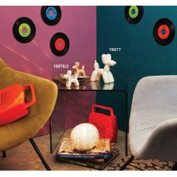 Bomboniere Claraluna statuina in ceramica a forma di cane palloncino intrecciato in due colori e due dimensioni