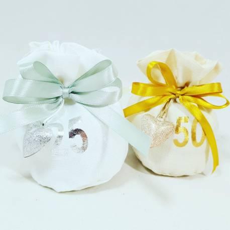 Anniversario Matrimonio Confetti.Sacchetti Confetti Anniversario Di Matrimonio Argento Oro