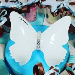 torta bomboniera candele profumate con magnete farfalla