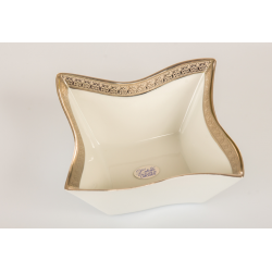 Bomboniera Cuorematto vuotatasca quadrato in porcellana Limoges con simile color platino utili per il tuo matrimonio