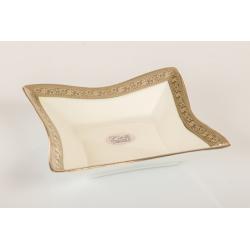 Bomboniera Cuorematto coppa bassa in porcellana Limoges con simile color platino  utili per il tuo matrimonio