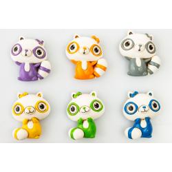 Bomboniera Cuorematto magnete animaletto poldina in resina decorata in 6 colori assortiti