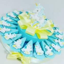 torta bomboniera unicorno magnete maschietto e salvadanaio bomboniere battesimo online