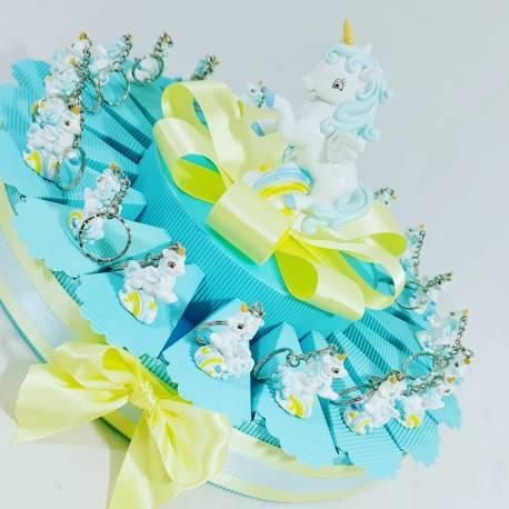 torta bomboniera unicorno portachiavi maschio e salvadanaio bomboniere battesimo online