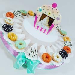 Torta bomboniere compleanno biscotti dolci e merendine magneti compleanno cresima comunione