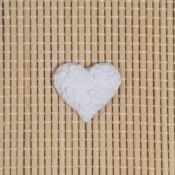 3 Gessetti profumati a forma di cuore con fiori bomboniere matrimonio promessa