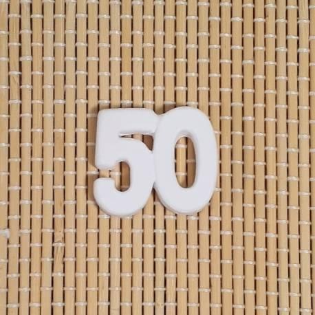 50esimo Anniversario Di Matrimonio.3 Gessetti Profumati A Forma Di 50 Decorazione Per Bomboniere Per