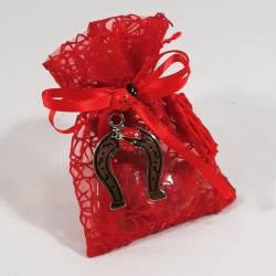 Bomboniera sacchetto portaconfetti per laurea con ciondolo a forma di  Staffa di cavallo con coccinella ideale 1e422f4b89c2