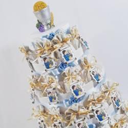 Torta bomboniera 26 sacchetti per Comunione bimbo