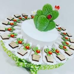 Torta bomboniera con cactus...