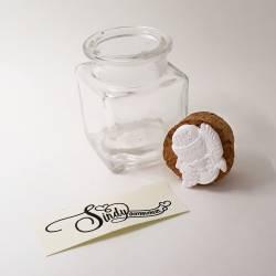 Particolare bomboniere per Prima Comunione, vasetto in vetro