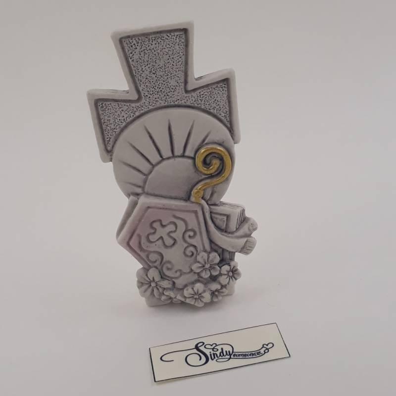 Croce con simboli sacri della Cresima bomboniere