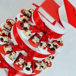Torta Bomboniere Laurea Portaconfetti con magneti 4828b0d17209