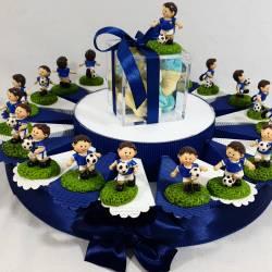 Torta Bomboniere calciatore Italia confetti e marshmallow inclusi