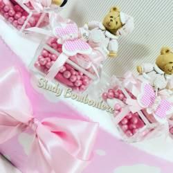 Bomboniera Battesimo rosa per bambina