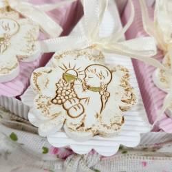 Torta Bomboniera Comunione quadrifoglio pendente per bimba