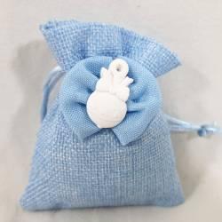 Sacchetti azzurri per nascita bimbo