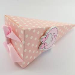 Bomboniere portaconfetti con fiocco rosa e ciuccio