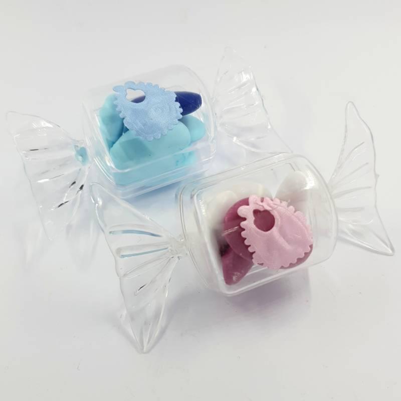Idee bomboniere nascita gemelli caramella bimbo e bimba