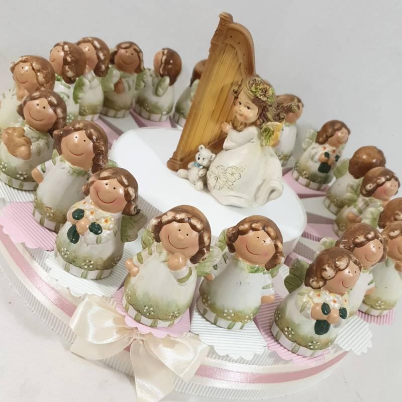 TORTA BOMBONIERE per  NASCITA e BATTESIMO-COMUNIONE-CRESIMA angelo celeste bambino