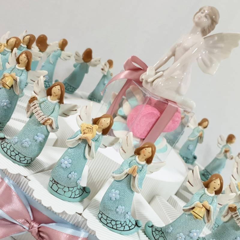 Bomboniere Matrimonio E Battesimo Insieme.Bomboniere Battesimo Comunione Angelo Gabriele Confezionate Su