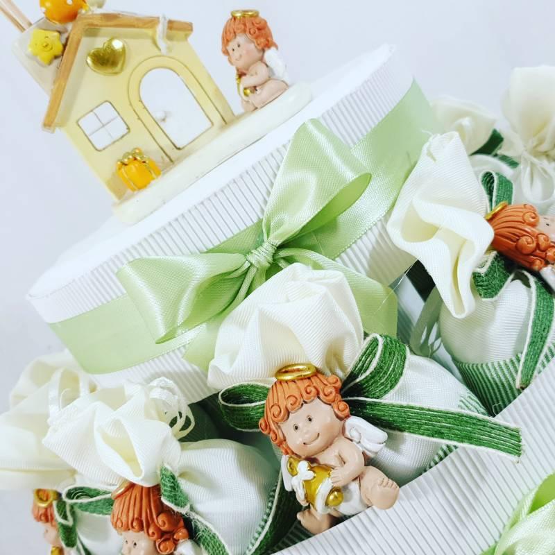 Sacchetti per confetti bomboniere Battesimo angioletti