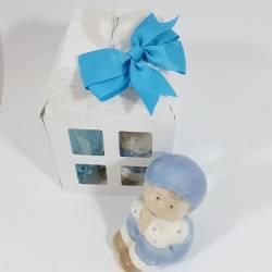 Bomboniere  Battesimo bambino con cappellino in porcellana